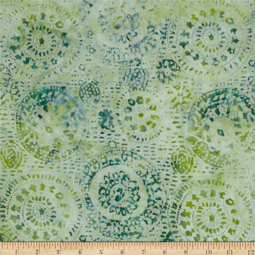 Tonga Batik Sea Glass Medallions Juniper Green