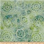 0301852 Tonga Batik Sea Glass Medallions Juniper Green