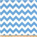 Riley Blake Flannel Basics Chevron Medium Blue