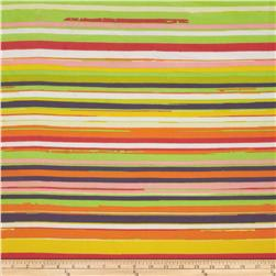 Chiffon Stripe Orange/Yellow/Lime