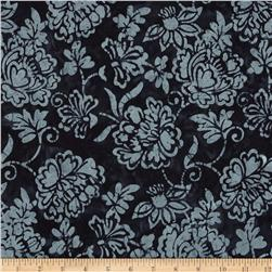 Timeless Treasures Tonga Batik Ebony English Rose Ebony