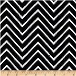 0277339 Chevron Stripe Jersey Knit Black/White