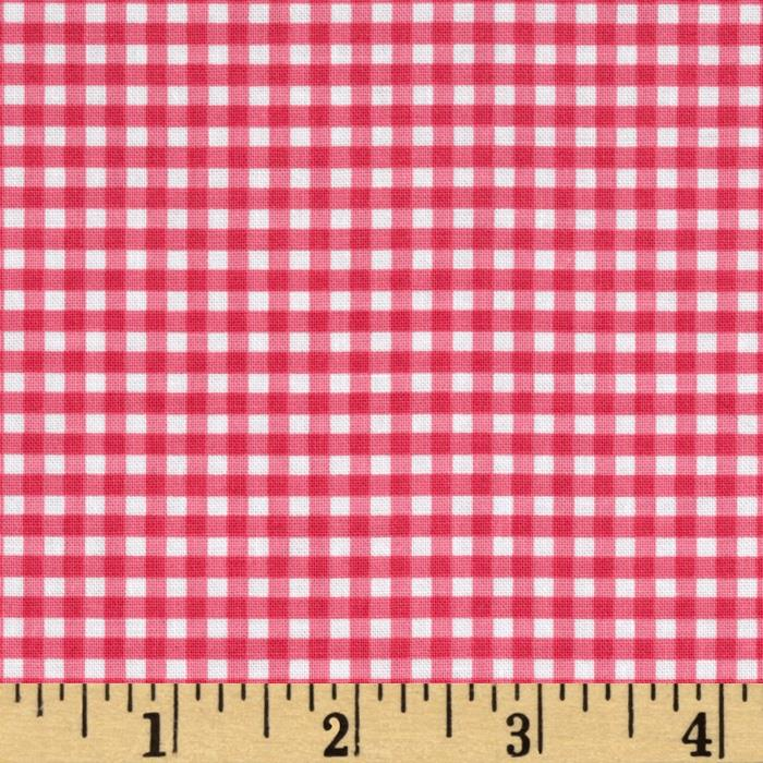 Riley Blake Small Gingham Hot Pink