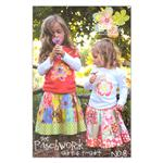 RBP-032 The Pink Fig Girls Patchwork Skirt & T-shirt Pattern Booklet