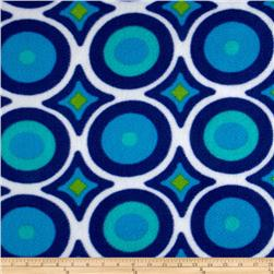 Wintry Fleece Abstract Tile Blue