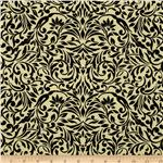 My True Love Gave To Me Damask Yellow/Black