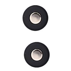 "Fashion Button 7/8"" Techy Black"