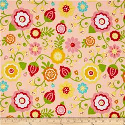 Riley Blake Flannel Simply Sweet Large Floral Pink