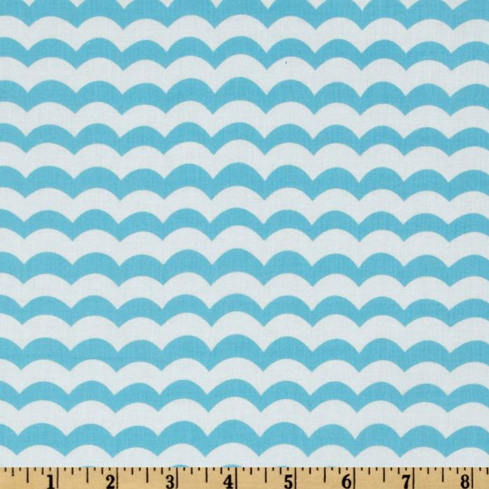 Seaside Holiday Choppy Waters Stripe White