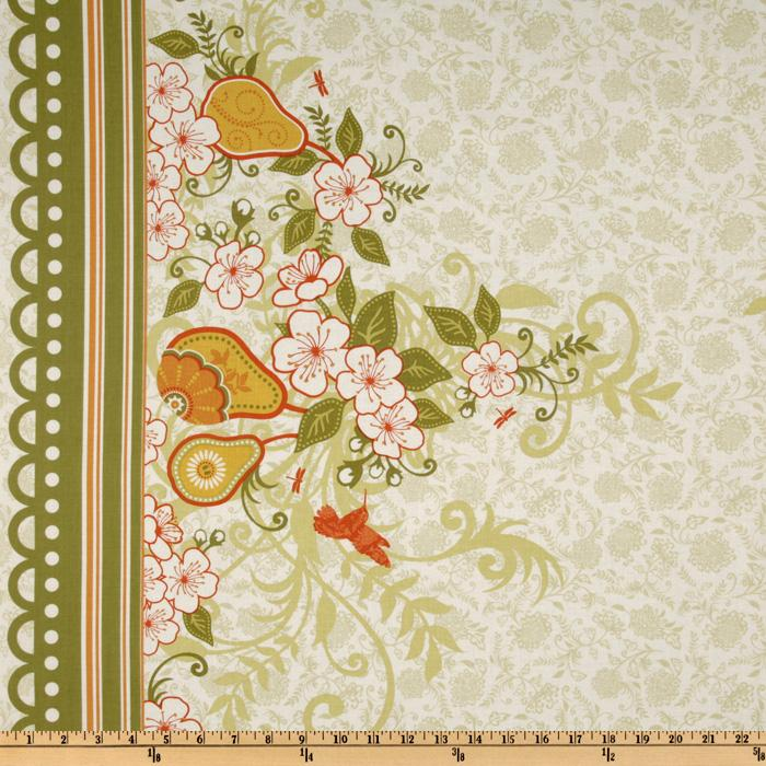 Decadence Lace Floral Double Border Green