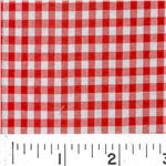 G8R-006 Woven 1/8 Gingham Red