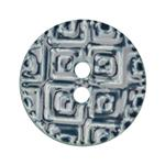 Ceramic Button 1 1/4'' Textures Blue