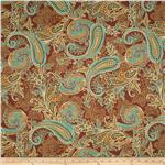 0268124 Textile Creations Indoor/Outdoor Cayenne Paisley Paprika