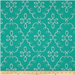 Michael Miller Wallflower Doodle Damask Mermaid