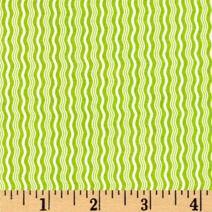 Riley Blake Hipster Crimp Stripe Lime