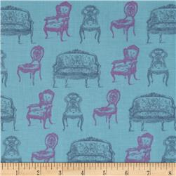 Victorian Vintage Chairs Teal
