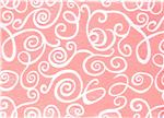 CFS-075 Fanci Felt 9 x 12&quot; Craft Cut White Swirl Baby Pink