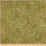 108&quot; Essential Scroll Quilt Backing Quilt Backing Olive