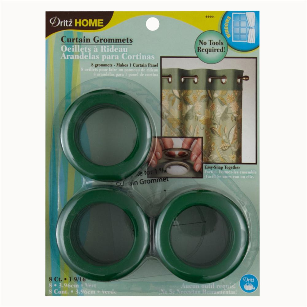 "Curtain Grommets 1 9/16"" Green"