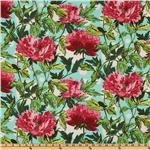 DQ-408 Amy Butler Soul Blossoms Joy Twilight Peony Amaranth