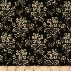 American Gothic Wallpaper Flower Black