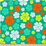 0293301 Fancy Flight Organic Mod Floral Garden Green