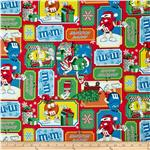 0302537 M&M's Christmas Patchwork Multi