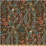 Bromley Voile Ikat Damask Brown