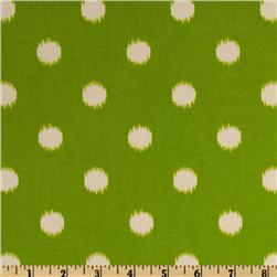 Premier Prints Ikat Dots Grasshopper Green/Natural