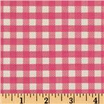 Michael Miller Children at Play School Gingham Pink