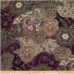 0282922 Hi Multi Chiffon Lacey Paisley Black/Purple