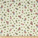 238975 Garden Tales Bunny &amp; Carrot Stripe Green