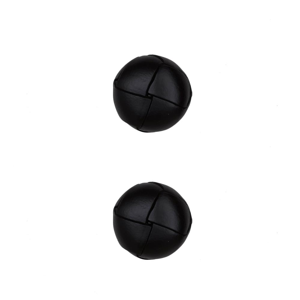 "Dill Buttons 11/16"" Genuine Black Leather Button"