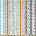 231118 Riley Blake Polka Dot Stitches Stripe Blue