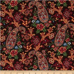 Charleston 1850 Floral Paisley Brown