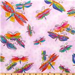 Laurel Burch Flying Colors II Dragonfly Lavender