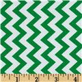 Chevron Chic Simple Chevron Green