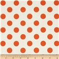 Riley Blake Le Creme Basics Medium Dots Cream/Orange