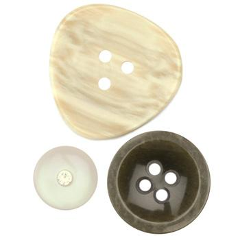 Fashion Buttons 5/8'', 7/8'', 1 1/4'' Coordinates Natural/Taupe/Brown