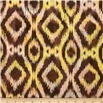 Indian Batik Ikat Brown/Coral