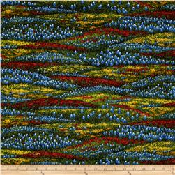 Moda Wildflowers VI Field of Flowers Blue/Yellow