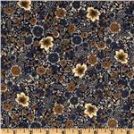 Timeless Treasures Tailor Flannel Floral Navy