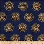 0274677 American Heroes Badges Gold/Navy