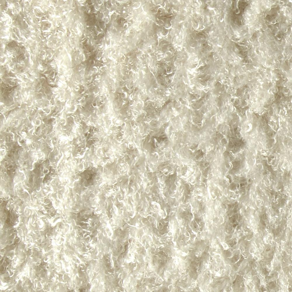 Faux Fur Mongolian Curly Ivory
