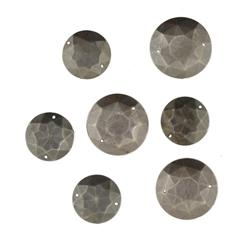 Favorite Findings Sew-on Gems Large Rounds Antique Silver