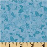 Belle's Dream Floral Sprigs Tonal Blue