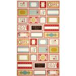 Moda Odds & Ends Label Scraps Panel Ivory