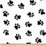 Fleece Paw Print Black/White