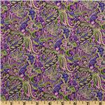 FM-104 Floral Paisley Purple