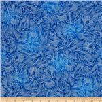 Lux Metallic Feathers Cobalt